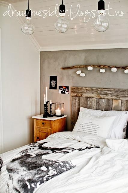 Un dormitorio de estilo natural