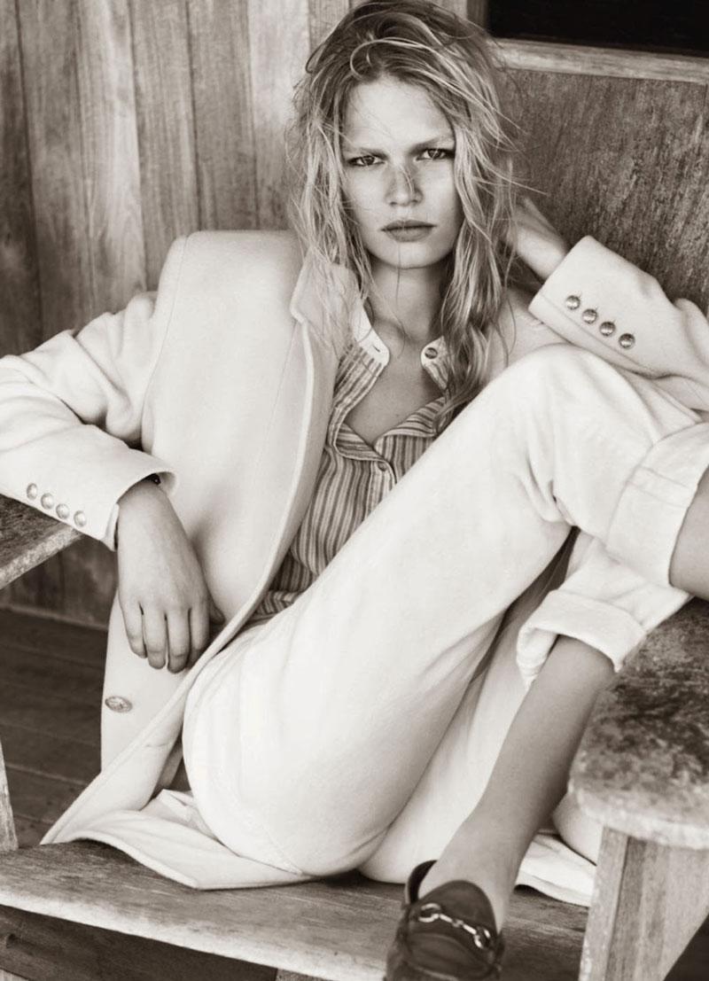 Anna Ewers in Hamptons | Vogue Paris October 2013 (photography: Josh Olins, styling: Geraldine Saglio)