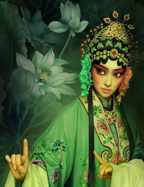 Beijing Opera, Yuehui Tang, Digital Art