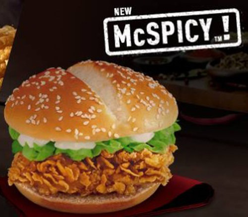 Image result for mcspicy chicken sandwich