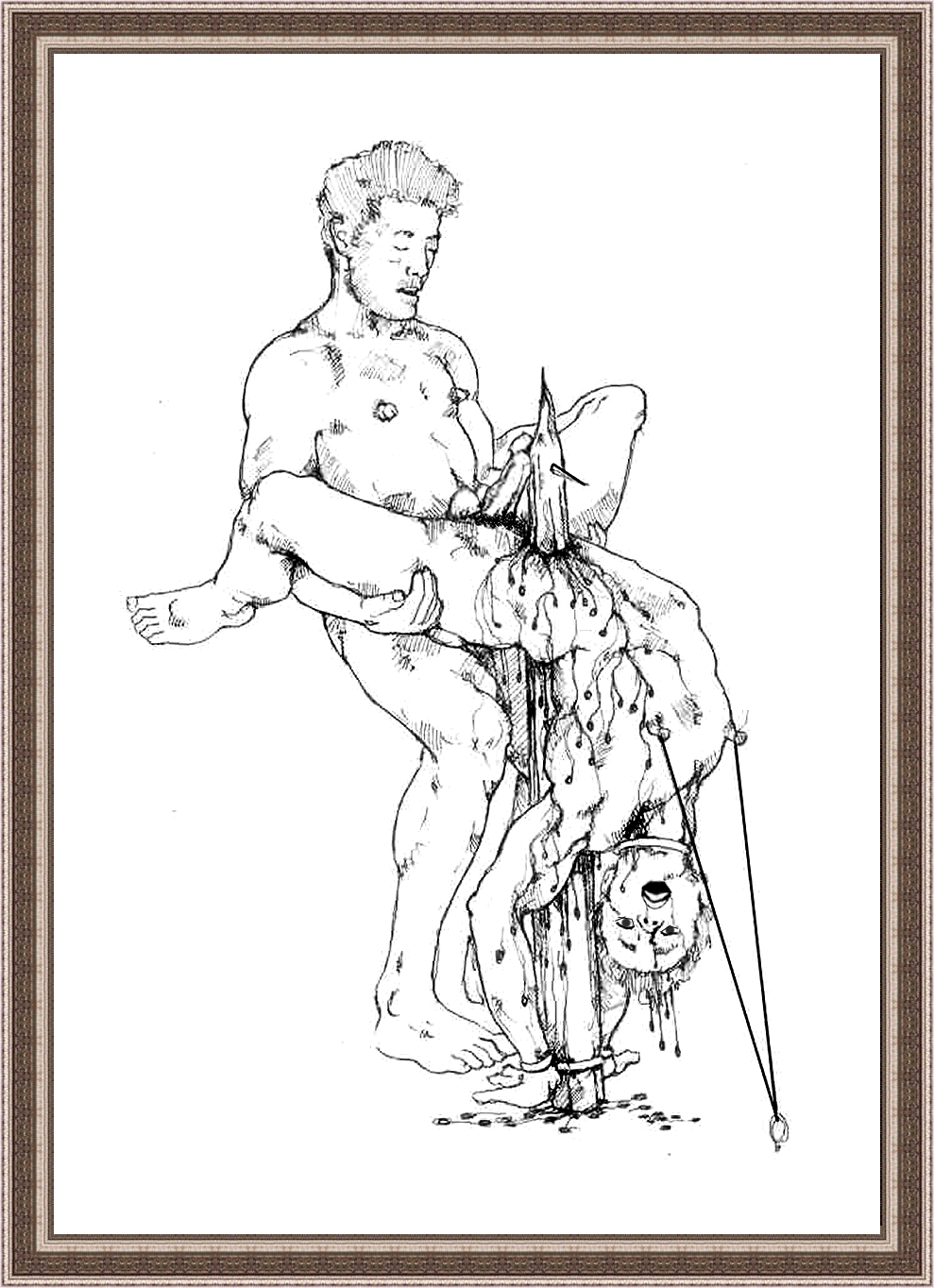 Nude girl torture drawings sexy scenes