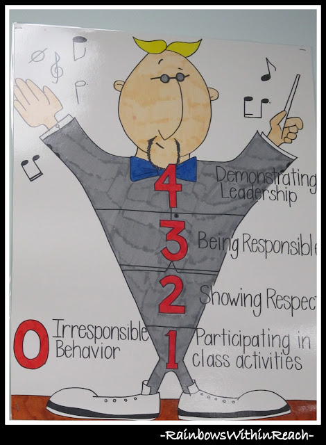 photo of: Classroom Behavior Chart Using Music Theme (Behavior Chart RoundUP via RainbowsWithinReach)