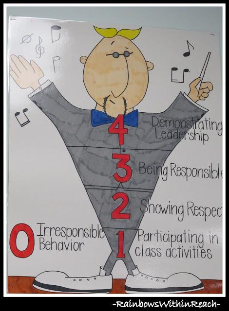 photo of: Classroom Behavior Chart Using Music Theme (Behavior Chart RoundUP via RainbowsWithinReach)