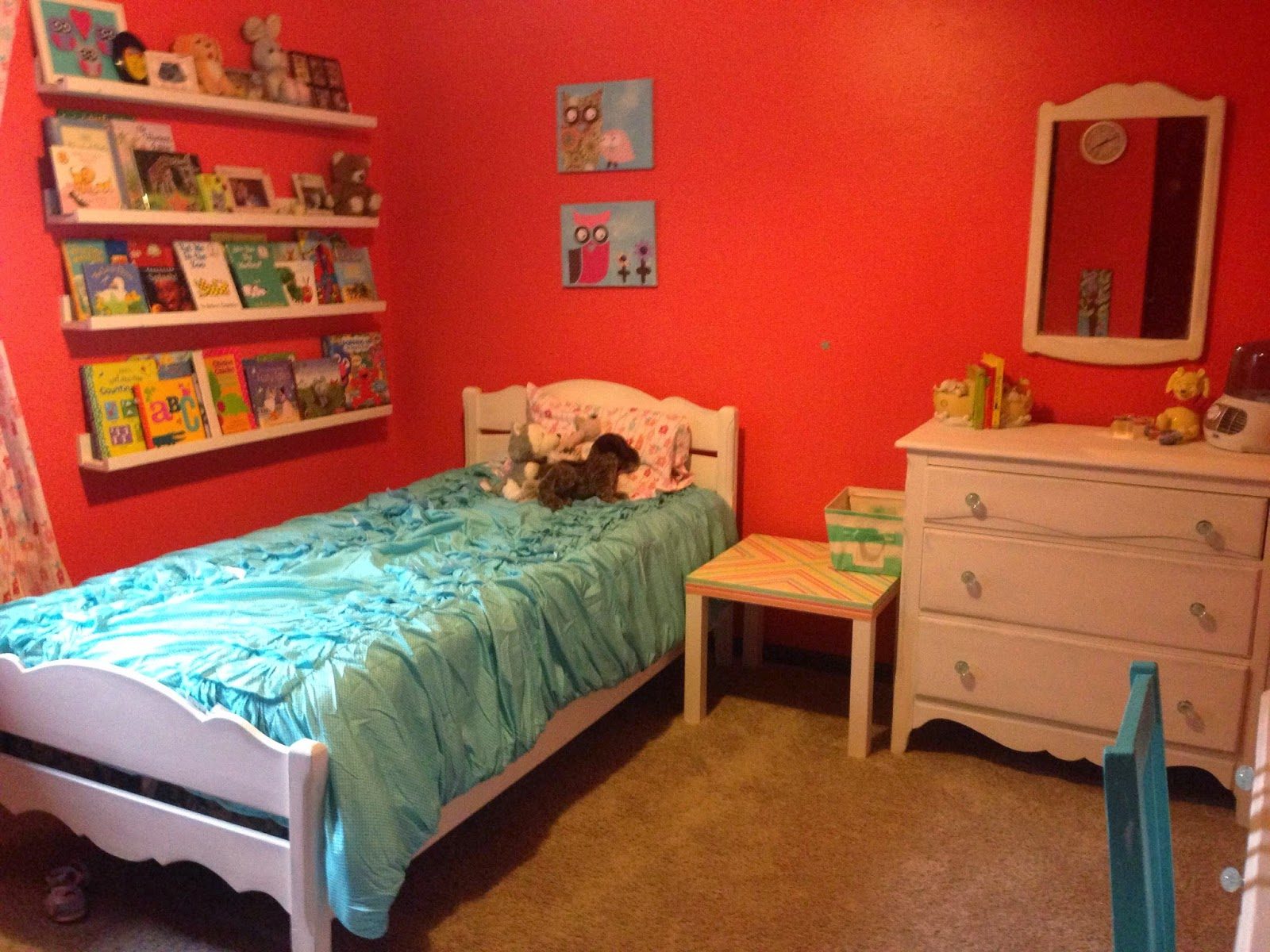 the dabbling crafter show tell aqua coral bedroom
