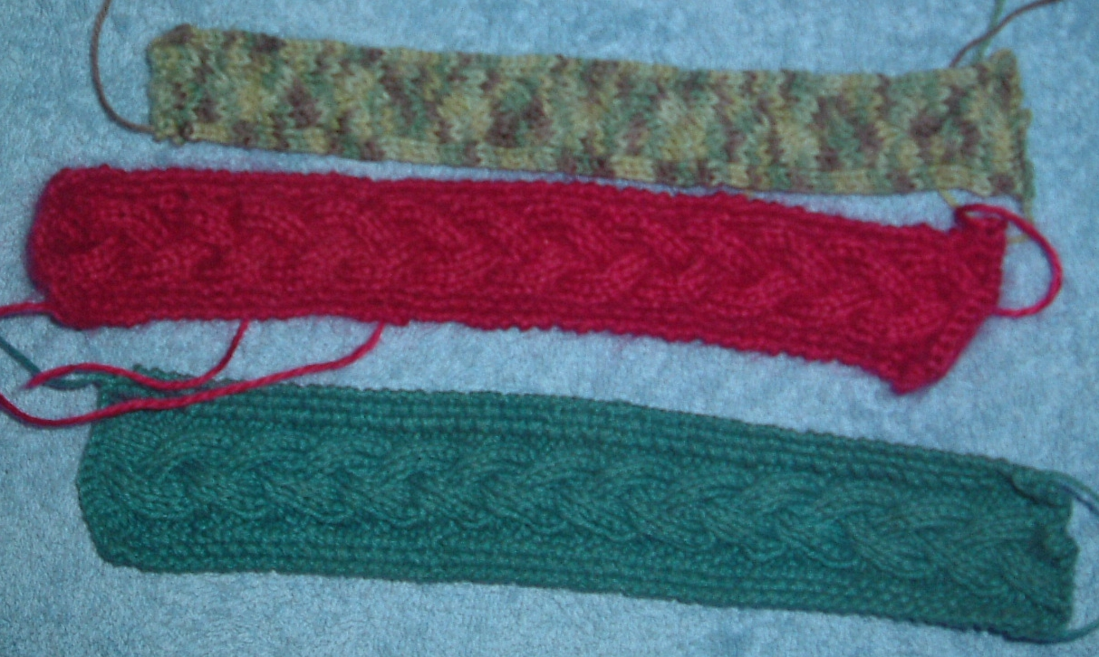 Knit Stitch Bookmark : Stitch In Time: Simple plait cable knitted bookmarks