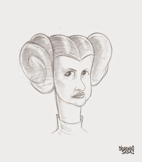 Princess Leia by Lorenzo Sabia
