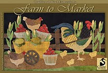 "Farm to Market Wall Hanging/Bench Pillow 15"" x 25"""