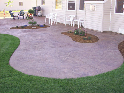 Patios ideasgarden patio designs gardening australia - Concrete backyard design ...