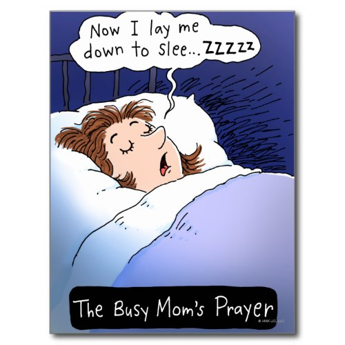 Busy Mom's Prayer | Funny Cartoon Postcard