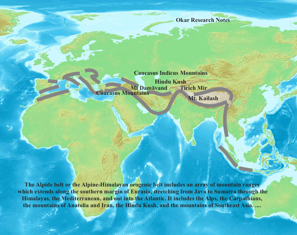 Okar research the alpide belt of sacred mountains the hindu kush it includes the alps the carpathians the mountains of anatolia and iran the hindu kush and the mountains of southeast asia gumiabroncs Gallery