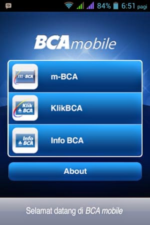 Aplikasi Untuk cek Saldo Rekening BCA