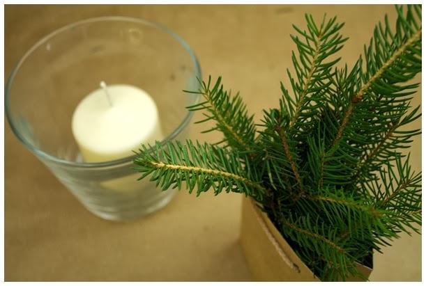 Szybki świecznik świąteczny