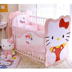 Hello Kitty baby crib in nursery room