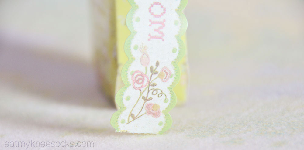 Kawaii Box comes with a few stationery and DIY items, such as this lace deco tape.