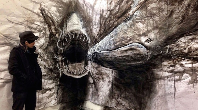 Sorprendentes dibujos de tamaño natural de animales que parecen 3D