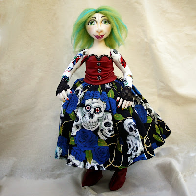 ooak cloth art doll Pip