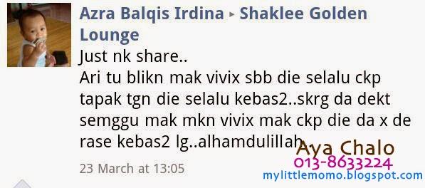 Testimonial Vivix Shaklee Kebas