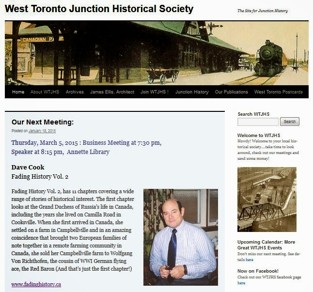 West Toronto Junction Historical Society meeting: March 5, 2015