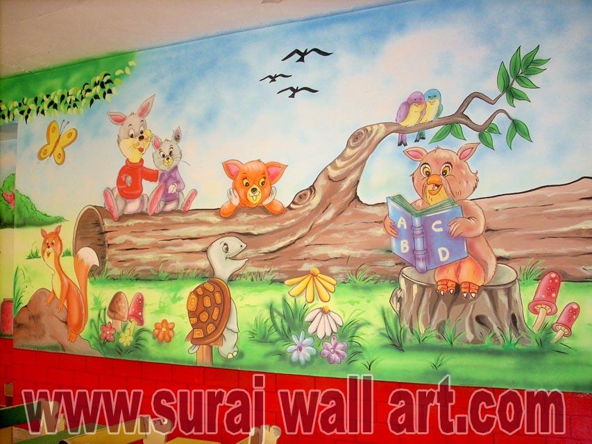 suraj wall art school wall painting semax international