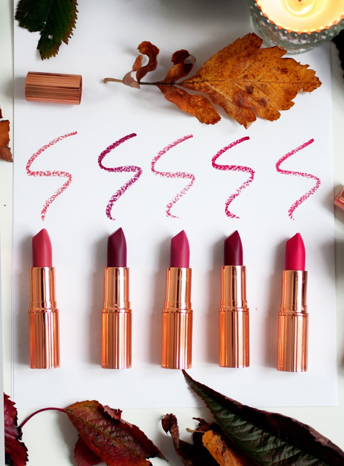 A blog review and swatches of the Charlotte Tilbury Matte Revolution Lipsticks