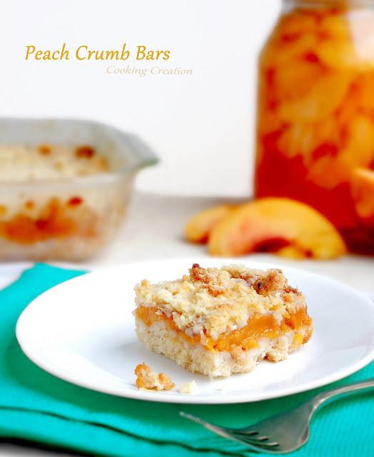 Cooking Creation: Peach Crumb Bars