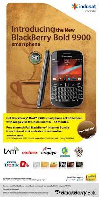HargaPromo BlackBerry Bold 9900 Kartu Kredit Bank Mega indosat