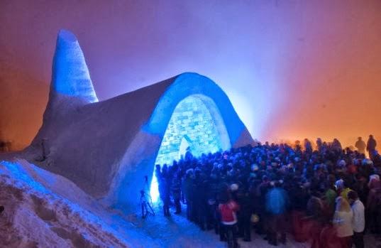 Snow church - Top 10 Coolest Snow Buildings
