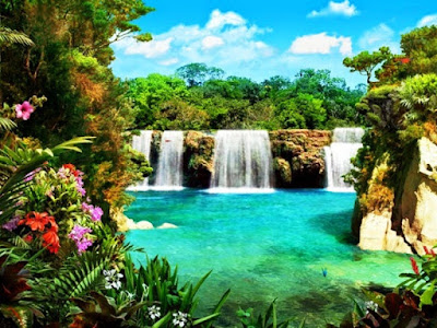 Gambar Pemandangan Alam Air Terjun Tercantik Di Dunia 1200