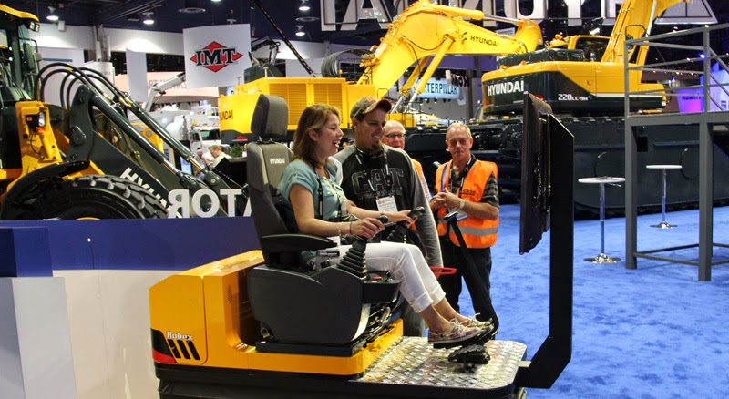 Hyundai Training Simulators at CONEXPO-CON/AGG