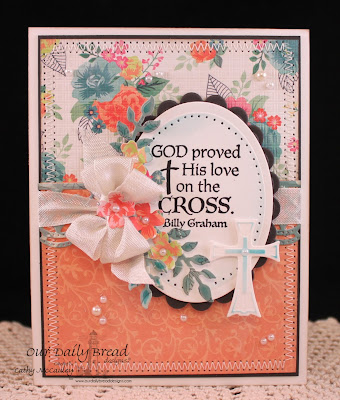 Our Daily Bread Designs, The Cross, Chalkboard Vine Background, ODBD Ornamental Cross Dies, ODBD Custom Beautiful Border, Cathy McCauley