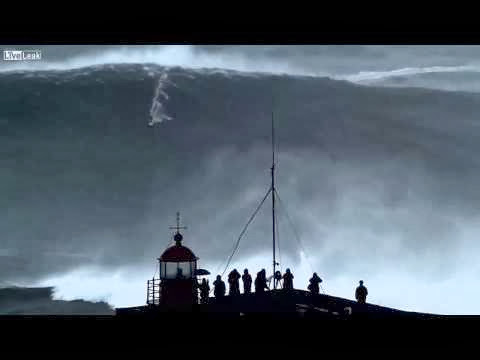 Carlos Burle Conquers One of the Biggest Waves Ever at Nazare