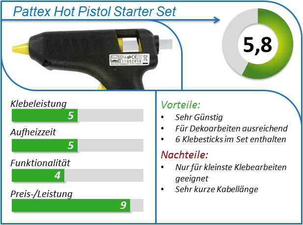 Pattex Hobby Starter Set Heißklebepistole mit Klebesticks