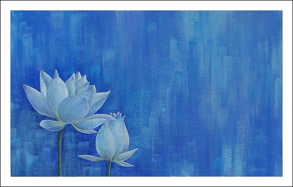 Biju Mathews Painting Blue Lotus