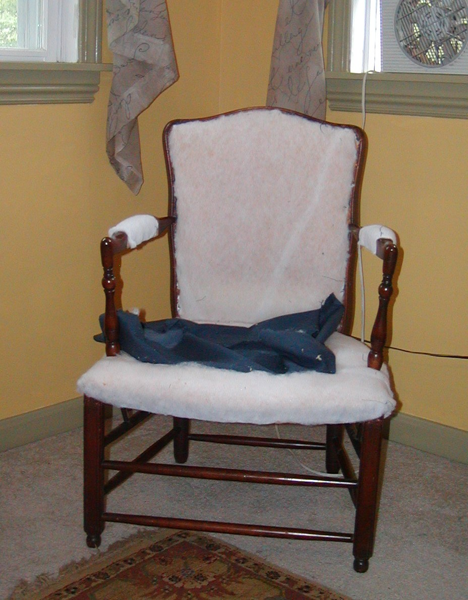 Sage and Sepia Chair Reupholstery DIY