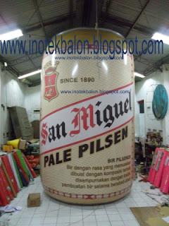 Balon karakter kaleng minuman San Miquel