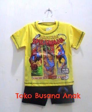 baju, kartun, anak, spiderman