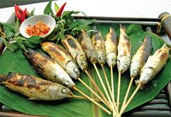 Grilled Mullet Fish Wrapped in Lotus Leaves 1