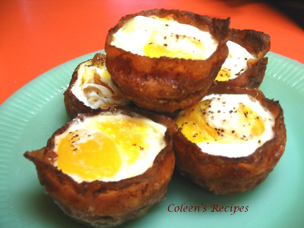 Coleen's Recipes: BACON EGG and CHEESE TOAST CUPS