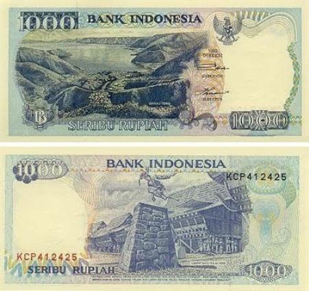 Uang Kertas 1.000 Rupiah 1992