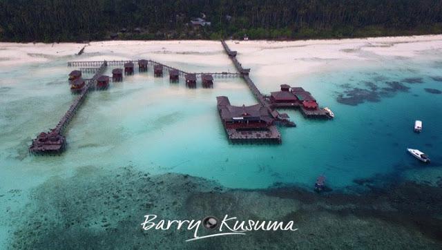 salah satu tempat wisata di pulau maratua