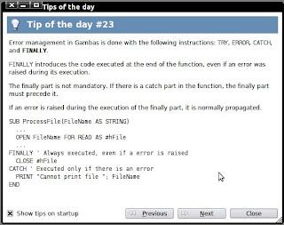 screenshot dialog tips of the day gambas2