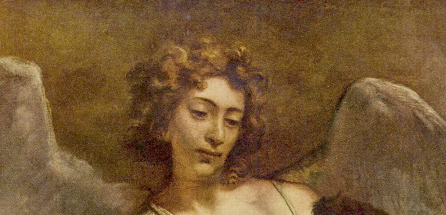 Famous Angel Paintings Raphael Crop of rembrandt s angel Famous Angel Paintings Raphael
