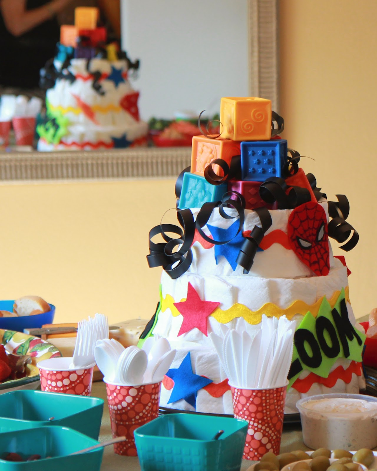 Snibbles and Bits: Easy Diaper Cake Tutorial