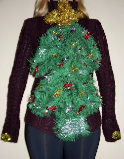 christmas tree ugly sweater garland diy idea