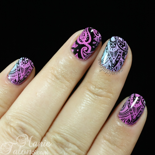 Mani with Messy Mansion MM48 - the Paisley Plate