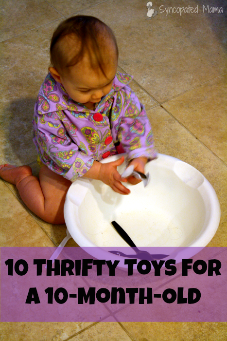 Toys For 1 Month Olds : Syncopated mama thrifty toys for a month old