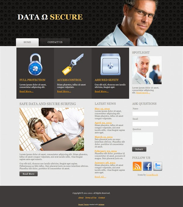 Data Secure - Free Drupal Theme