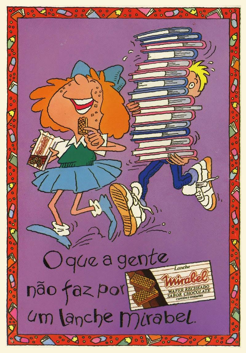 Propaganda do Lanche Mirabel apresentada em 1970.