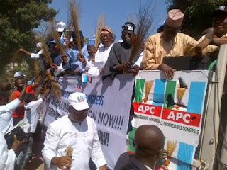 Live in Photos ;  APC protest against electoral fraud in Anambra state