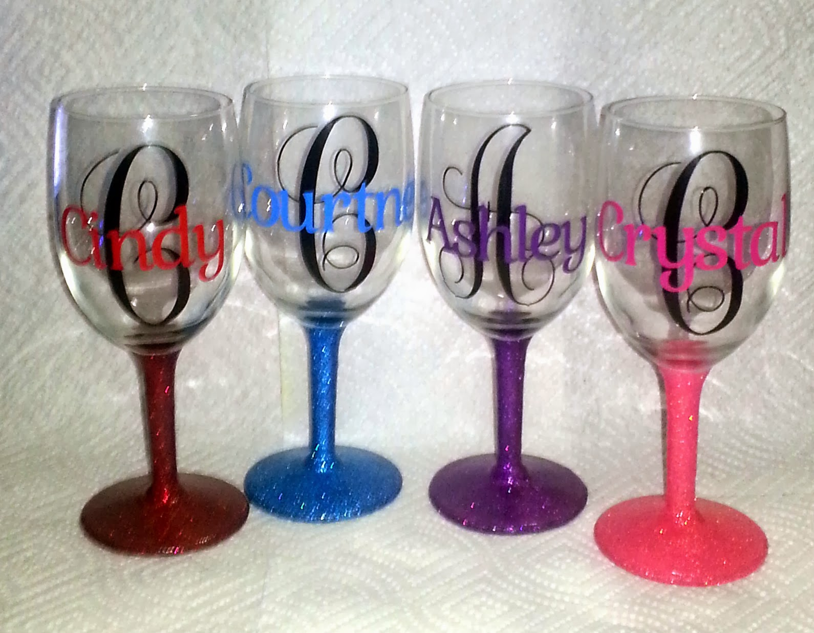 Crystal 39 S Creative Spot Personalized Wine Glasses